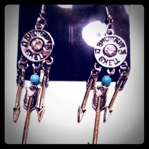 Shot gun Indian arrows earrings